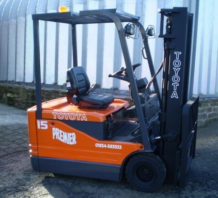 TOYOTA 5FBE15a ELECTRIC Fork Lift